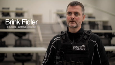 "YouTube video thumbnail with text, ""Brink Fidler: Founder - Defend Systems."""