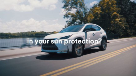 "YouTube video thumbnail with text, ""...in your sun protection?"""
