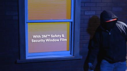 YouTube video thumbnail of burglar lurking in the dark near window